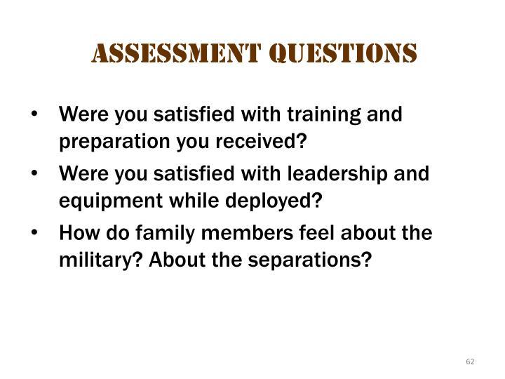 Assessment questions 2
