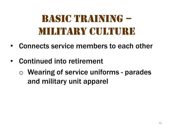 Basic Training – Military Culture 10