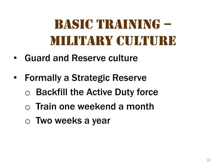 Basic Training – Military Culture 11