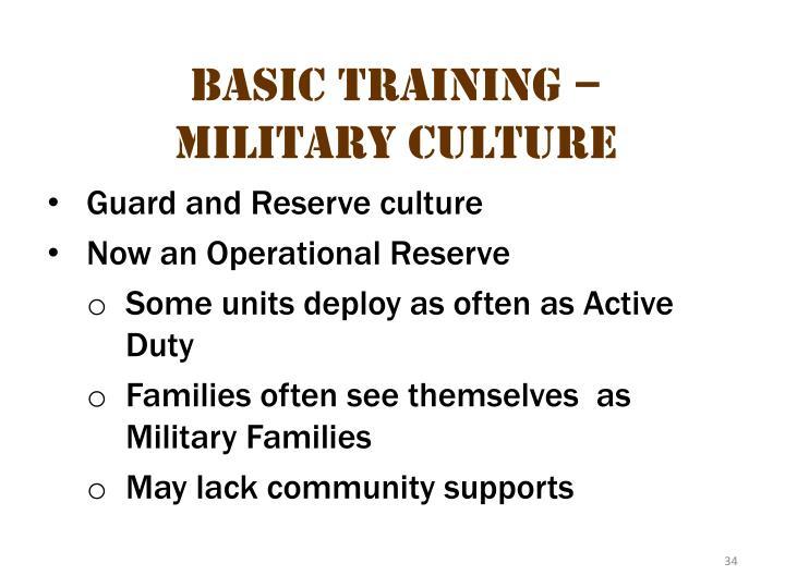 Basic Training – Military Culture 12