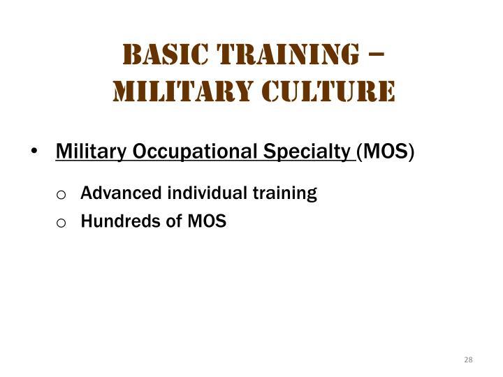 Basic Training – Military Culture 6