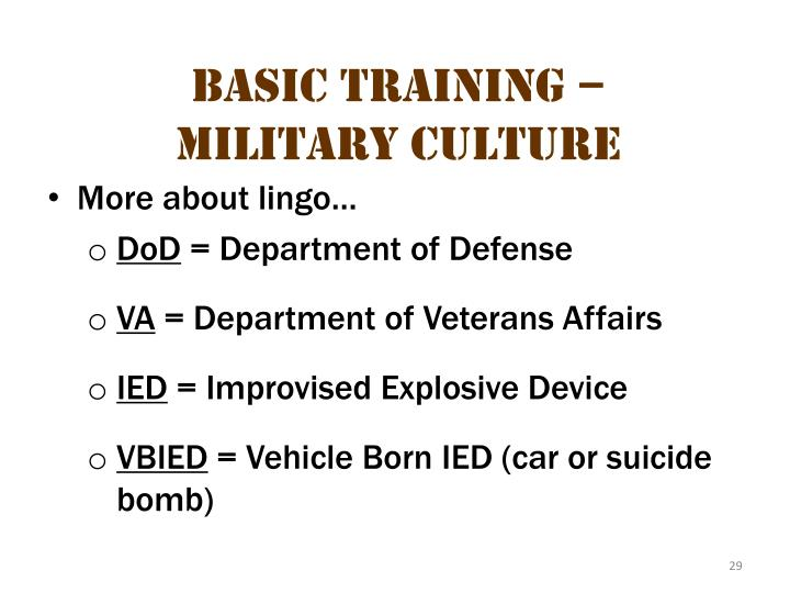 Basic Training – Military Culture 7