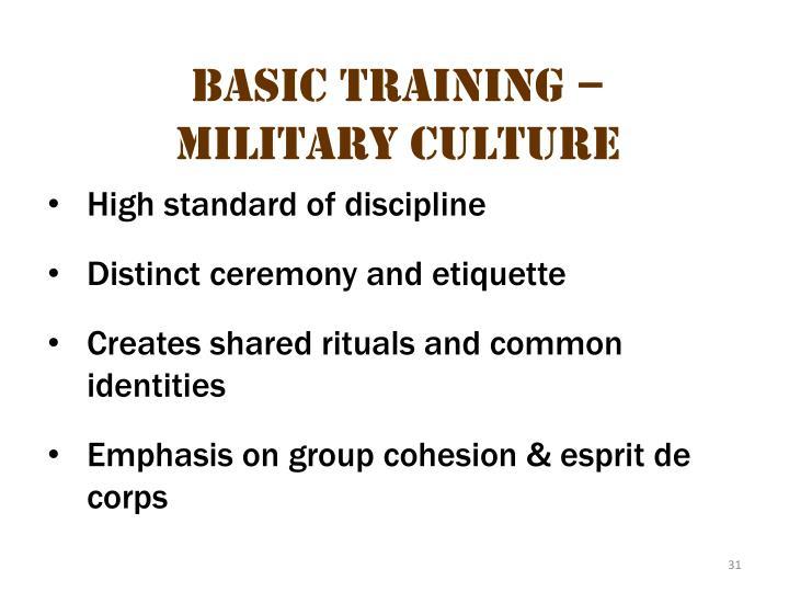 Basic Training – Military Culture 9