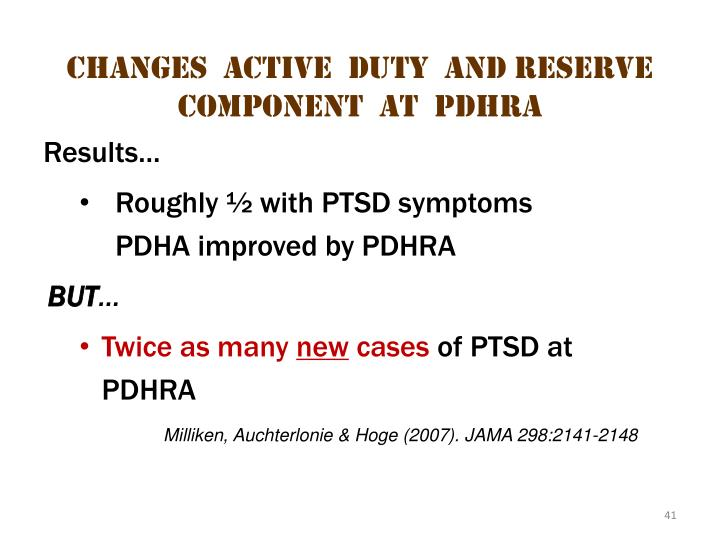 Changes  Active  Duty  and Reserve  Component  at