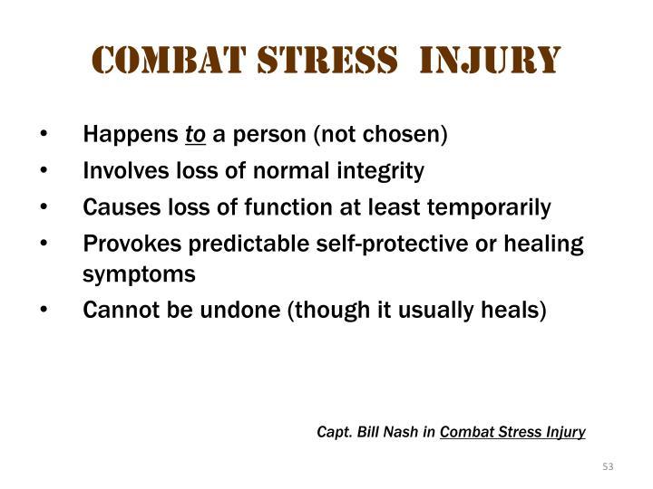 Combat stress  injury