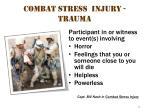 combat stress injury trauma