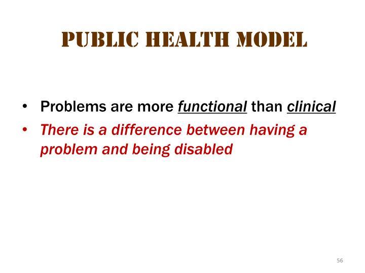 Public health  model 2