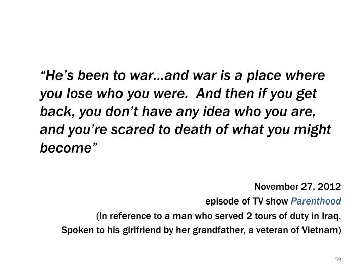 Quote from TV show,