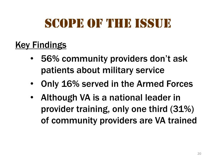 Scope of the issue 10