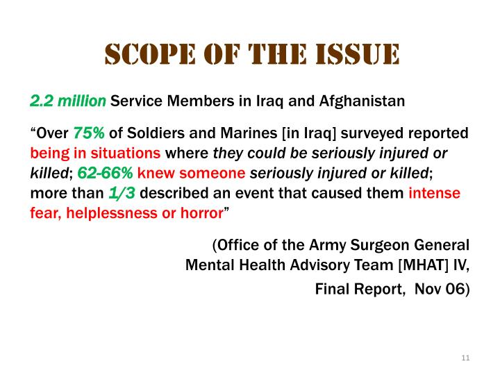 scope of the issue 3