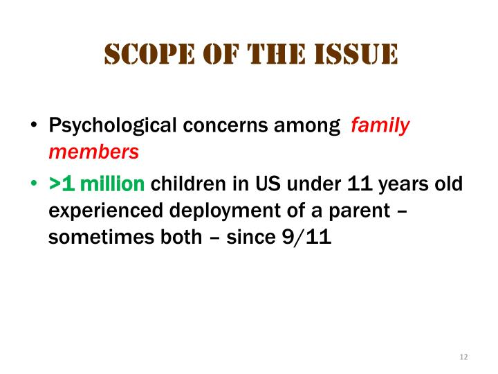 scope of the issue 4
