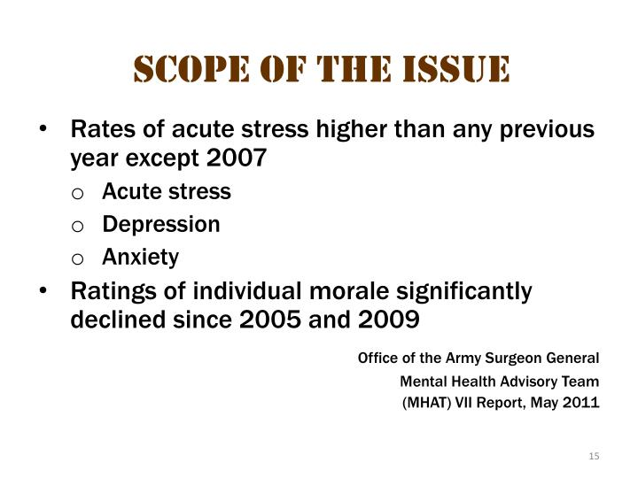 Scope of the issue 6