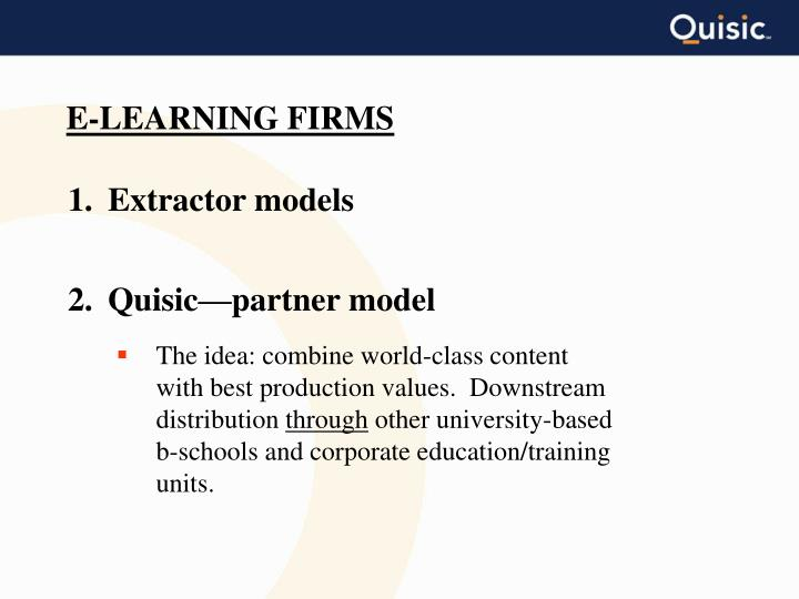 E-LEARNING FIRMS