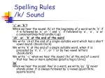 spelling rules k sound