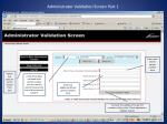 administrator validation screen part 1
