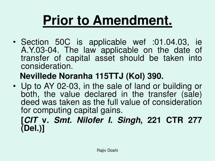 Prior to Amendment.