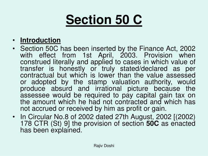 Section 50 C