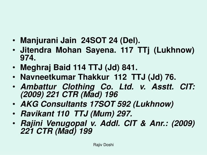 Manjurani Jain  24SOT 24 (Del).