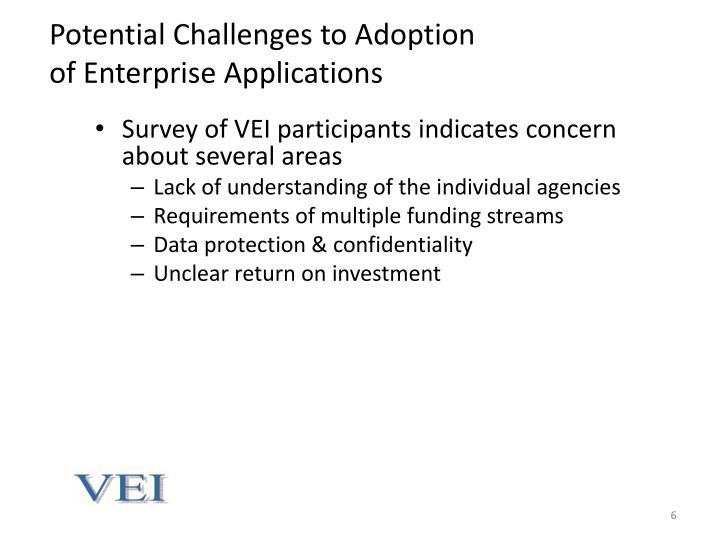 Potential Challenges to Adoption