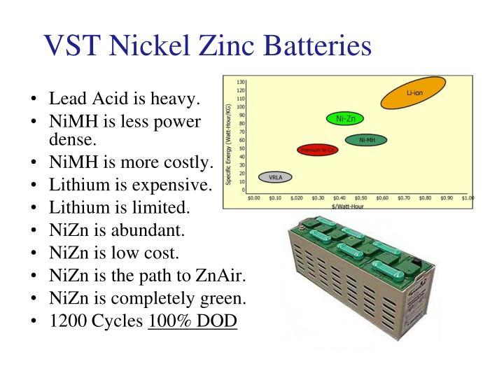 VST Nickel Zinc Batteries