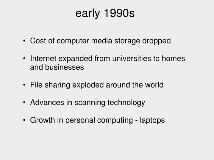 Cost of computer media storage dropped