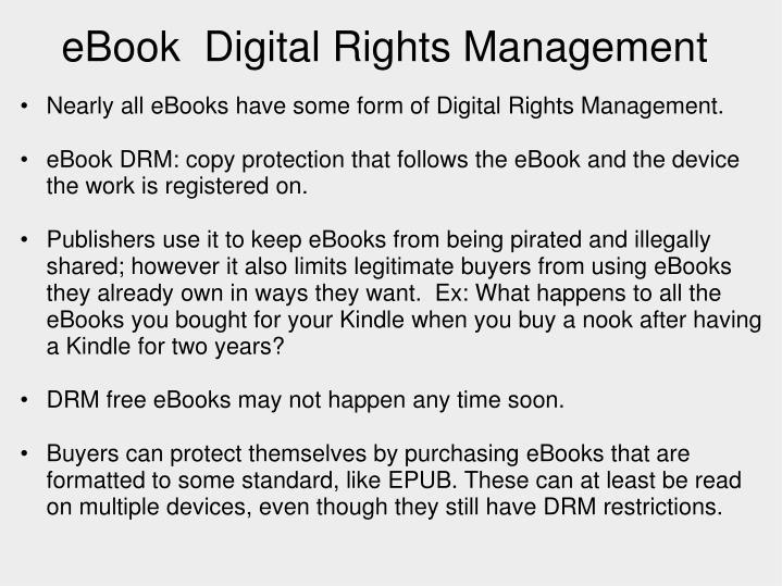 eBook Digital Rights Management
