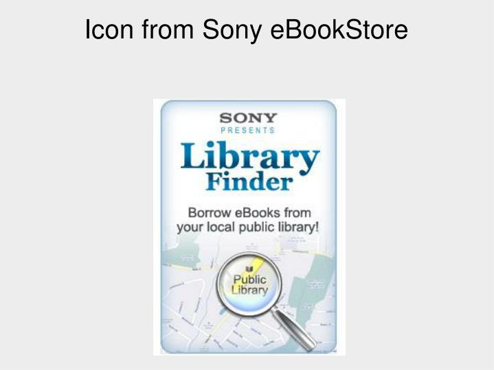 Icon from Sony eBookStore