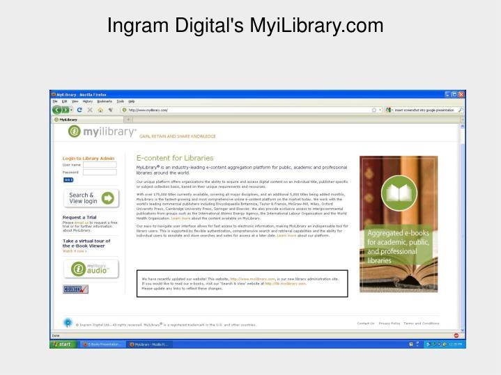 Ingram Digital's MyiLibrary.com