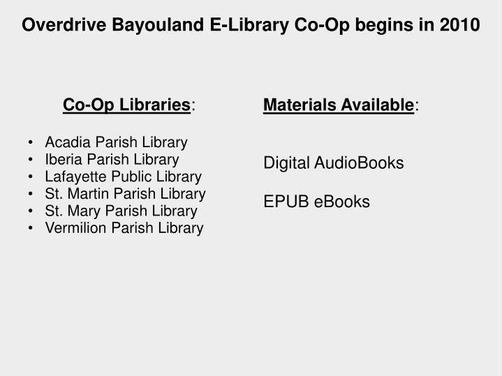 Co-Op Libraries
