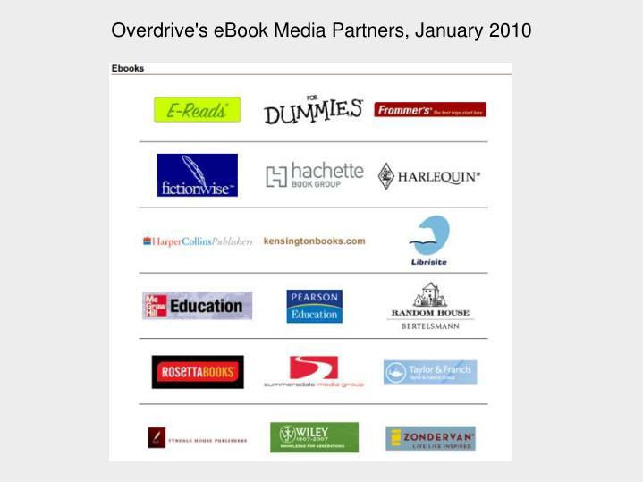 Overdrive's eBook Media Partners, January 2010
