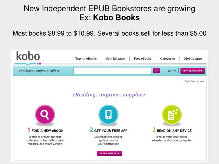 New IndependentEPUB Bookstores are growing