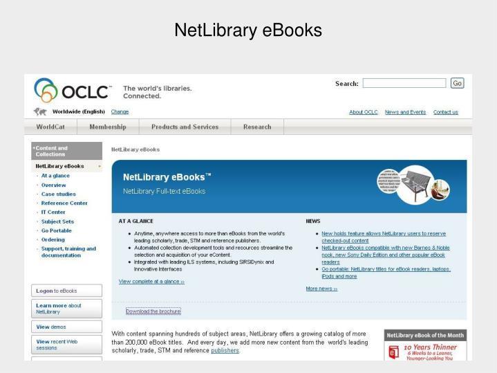 NetLibrary eBooks