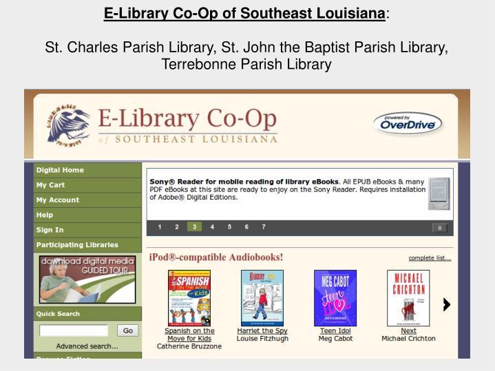 E-Library Co-Op of Southeast Louisiana