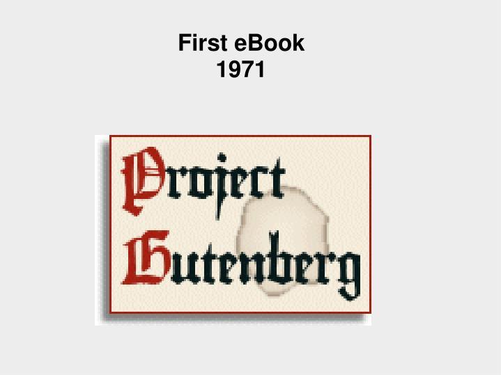 First eBook