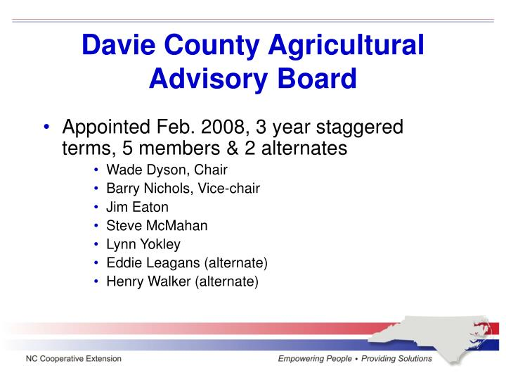 Davie County Agricultural Advisory Board