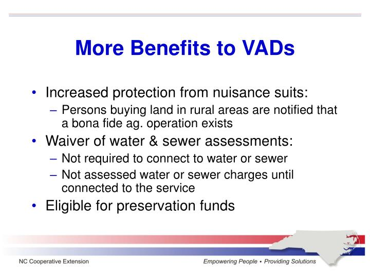 More Benefits to VADs