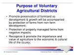purpose of voluntary agricultural districts