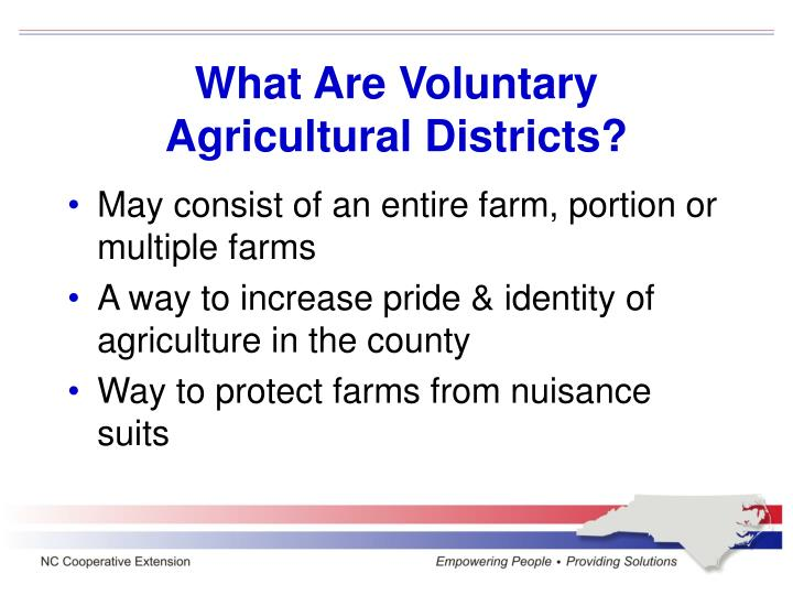 What Are Voluntary Agricultural Districts?