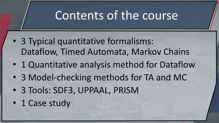 Contents of the course