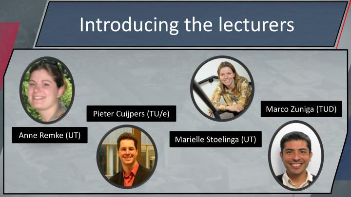 Introducing the lecturers