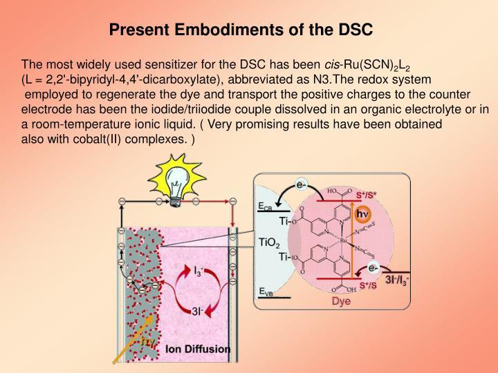 Present Embodiments of the DSC