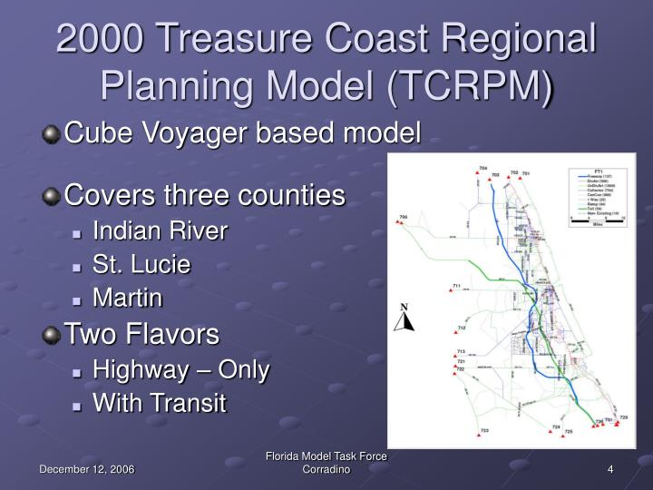 2000 Treasure Coast Regional Planning Model (TCRPM)