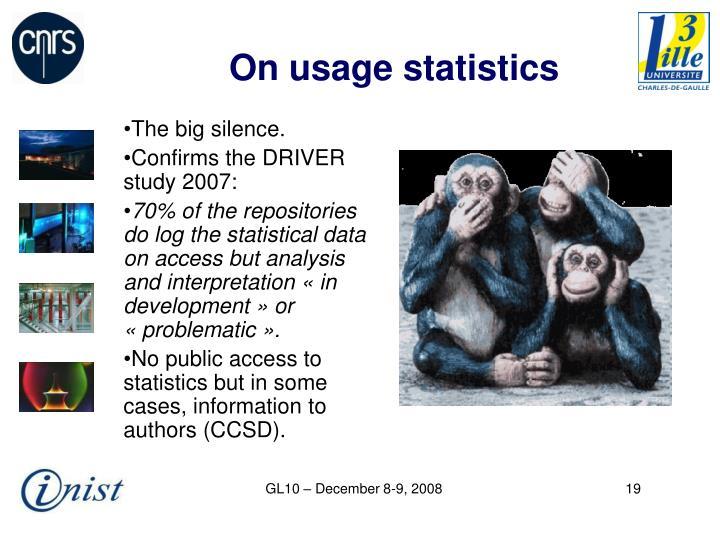 On usage statistics