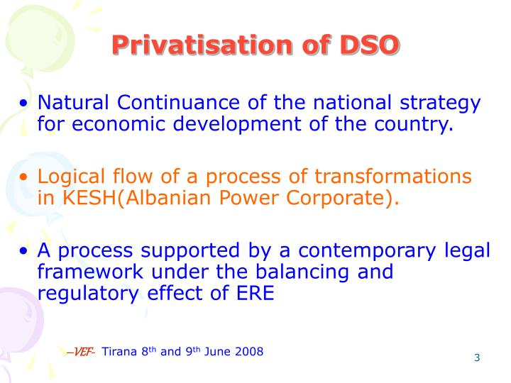 Privatisation of dso