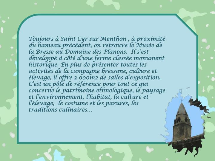 Toujours à Saint-Cyr-sur-