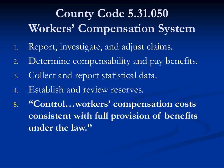 County Code 5.31.050