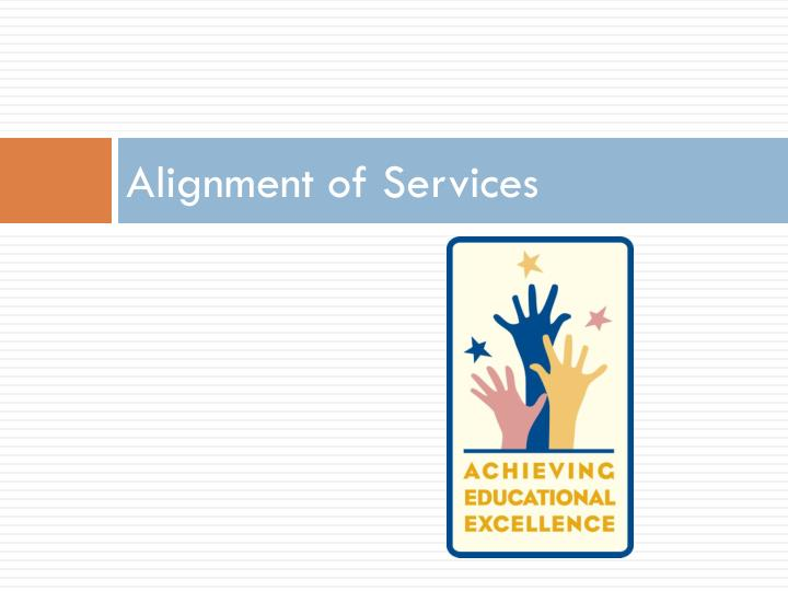 Alignment of Services