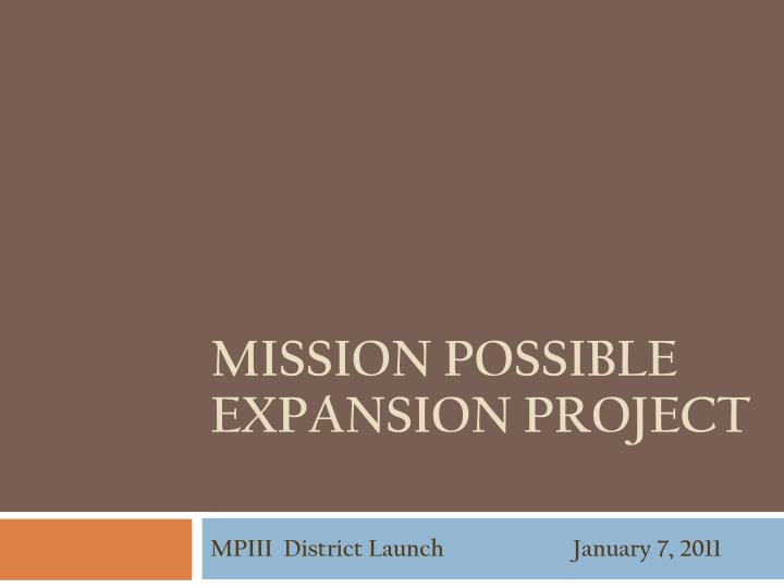 Mpiii district launch january 7 2011