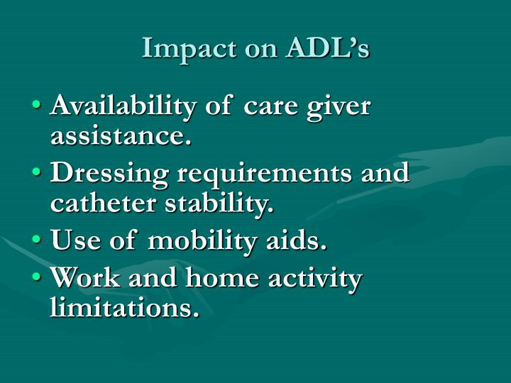 Impact on ADL's