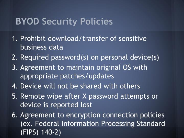 BYOD Security Policies